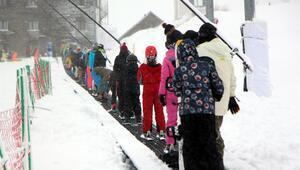 Bolu kartalkayaya geç gelen kar, yılbaşı rezervasyonlarını düşürdü