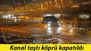 Son dakika haberi: Resmen kâbusa döndü Kanal taştı, köprüler kapatıldı