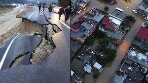Son dakika haberi: Dün akşamdan beri kâbus yaşanıyor Köprü kapatıldı, yollar çöktü