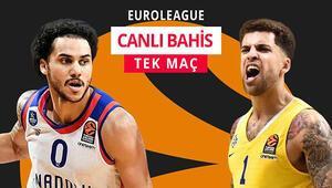 Anadolu Efes, averajla bıraktığı liderliği geri almak istiyor Maccabiye karşı iddaa oranı...