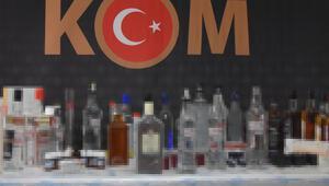 İzmirde ele geçen 60 ton sahte içki imha edildi