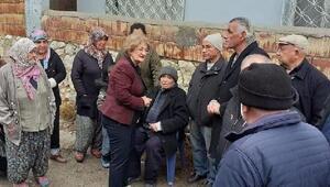 Evi yanan Demirağaç Çiftine Belediyeden yardım eli