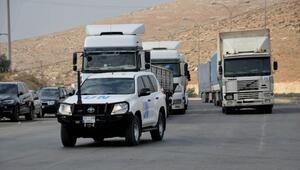 BM'den İdlib'e 43 TIR insani yardım
