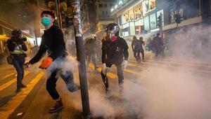 Hong Kongda protestolar Noel tatilinde de devam etti