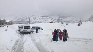 Adıyamanda bir ilçede okullara kar tatili