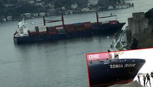 Son dakika... İstanbul Boğazında bir gemi kıyıya çarptı