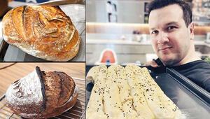 Şahan Gökbakar ekmek yapmaya başladı