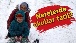 Eskişehir ve Bilecikte okullar tatil mi Kar nedeniyle okullar nerelerde tatil edildi