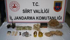 Siirtte PKKlı teröristlere ait patlayıcı düzenekleri ele geçirildi
