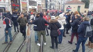 Yeni yıla saatler kala Taksim... Polis tek tek aradı