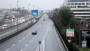 İstanbulda 2020nin ilk günü yollar boş kaldı