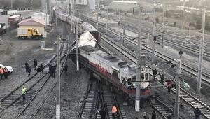 Ankarada Doğu Ekspresinin bir vagonu devrildi