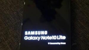 Samsung Galaxy Note 10 Lite çalışırken görüntülendi