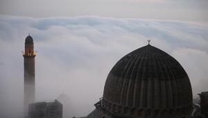 Mardinde sis ve gün batımı görsel şölen oluşturdu