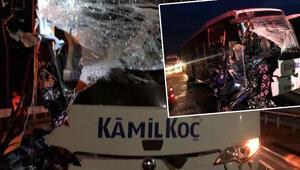 Bilecikte yolcu otobüsü TIRa çarptı: 17 yaralı
