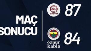 Birevim Elazığ İl Özel İdare: 87 - Fenerbahçe Öznur Kablo: 84