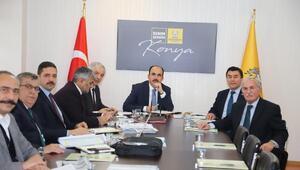 Konya Büyükşehir Belediye Başkanı, 31 ilçenin yöneticileriyle görüştü
