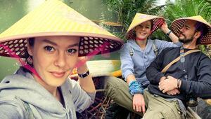 Oyuncu Burcu Biricik ile eşi Emre Yetkin Vietnamda