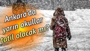 Kar nedeniyle Ankarada okullar tatil mi Son dakika kar tatili açıklaması