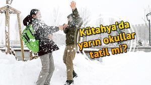 Kütahyada yarın okullar tatil mi (7 Ocak Salı) Kütahya Valiliğinden 6 ilçe için son dakika kar tatili açıklaması