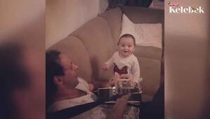 Kaan Tangöze ve Kıvılcım Ural çiftinin 1 yaşındaki kızları İlayda babasına böyle eşlik etti...