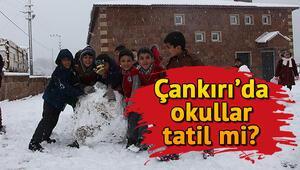 7 Ocak Salı günü Çankırıda okullar tatil oldu mu Yarın Çankırının hangi ilçelerinde okullar tatil