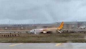 Son dakika... Sabiha Gökçen Havalimanında uçak pistten çıktı