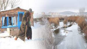Türkiyenin o şehrinde Sibirya soğukları... Sıcaklık eksi 11e düştü, her yer buz tuttu