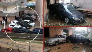 Son dakika: Mersin felaketi yaşadı Araçlar üst üste yığıldı…