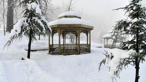 Ispartada eşsiz kar manzarası