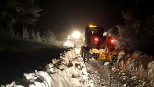 Kar eğlencisi için gittikleri Spilde mahsur kalan aile kurtarıldı