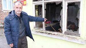 Kış günü evi yandı, sokakta bırakılmadı