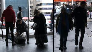 Mecidiyeköy'de tenis raketi ve makasla birbirlerine saldırdılar