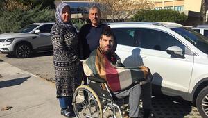 Çift kol nakilli Yusuf Oğuz, ameliyattan sonra ilk kez dışarı çıktı