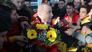 Galatasaray karşılamasında zorlu göndermesi