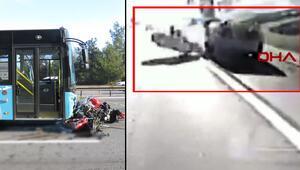 Son dakika haberler: Ümraniye TEM Otoyolunda feci kaza: O anlar kamerada