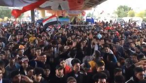 Irak'taki protestolarda ABD ve İran karşıtı sloganlar atıldı