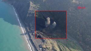 Kazıda bulunan top mermileri böyle imha edildi