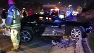 Ataşehirde feci kaza 4 yaralı...