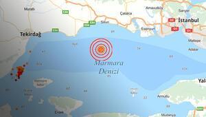 Son dakika: İstanbuldaki 4,7lik deprem, Tekirdağda da hissedildi
