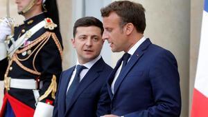 Zelenskiy ve Macron Ukrayna uçağının düşürülmesini görüştü