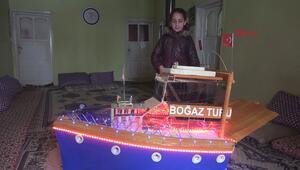 Kızı için kırık elbise dolabından tekne yaptı
