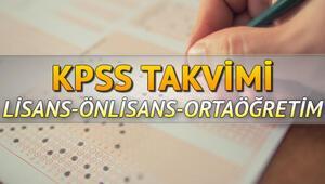 2020 KPSS ne zaman KPSS lisans ve ortaöğretim başvurusu ne zaman