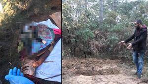 Arnavutköyde orman vahşet Battaniyeye sarılı kadın cesedi bulundu