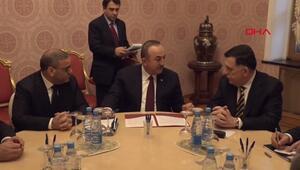 Libya krizinde önemli görüşme... Mevlüt Çavuşoğlu Moskovada Sarrac ile buluştu