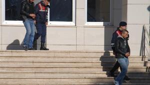 Jandarmanın yakaladığı iki şüpheli tutuklandı