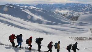 Van Gölü için 3 bin 395 rakımlı Vavira Dağı'na zirve tırmanışı