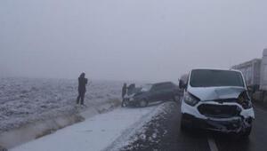 Edirne'de yoğun sis kazalara neden oldu