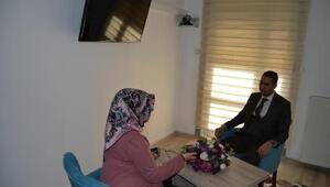 Aksaray Adliyesinde görüşme odaları açıldı