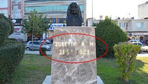 Adanada Zübeyde Hanımın büstüne çirkin saldırı